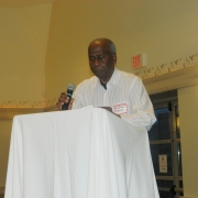 Volunteer of the Year Jey, giving his speech